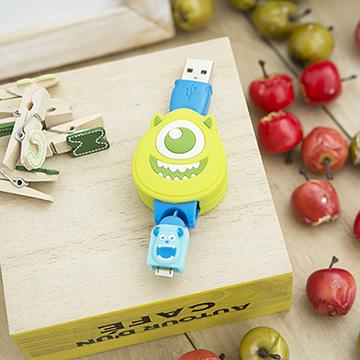สายชาร์ตตัวการ์ตูนดิสนีย์ไมค์ มอนสเตอร์ Disney MICRO USB (Samsung/SONY/LG/HTC..)