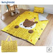 (BabyTiger)[BabyTiger Tiger treasure children] MYHOUSE Korea anti-mite allergy Party Animals Children's sleeping bag - Joey squirrel