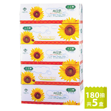 [TAITRA] [Baiji] Boxed Tissue Paper (180 Sheets/Box x 5 Boxes)