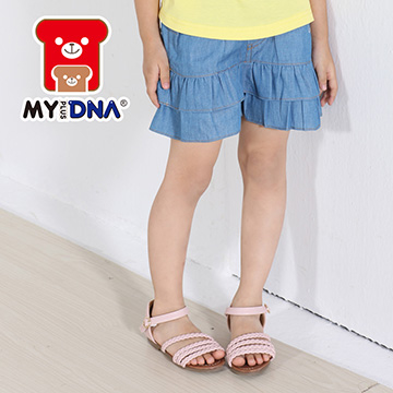 (MY+DNA)[Part] MY + DNA Bear lace stitching denim shorts - blue (D2169-51)