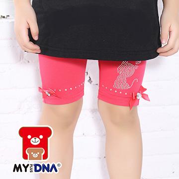 (MY + DNA) [สำนักงานใหญ่ MY + DNA Bear] ภายในหุ้มขาสั้นลูกแมวประดับด้วยเลื่อม - แดงอ่อน (D2174-13)