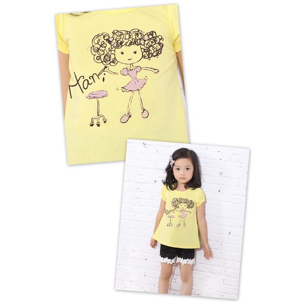 (MY+DNA)[Part] MY + DNA Bear playful girl tops - yellow (D2157-33)