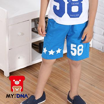 (MY+DNA)[MY + DNA Bear headquarters] Digital Star shorts - color blue (D2117-54)