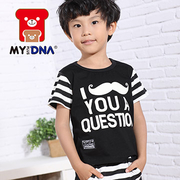 (MY+DNA)[MY + DNA Bear headquarters] Alice Beard striped sleeve shirt - Black (D2102-88)
