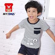 (MY+DNA)[MY + DNA Bear headquarters] NO.5 striped shirt - White (D2110-80)