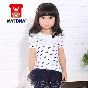 [MY + DNA Bear Head] เสื้อคอโบว์ลูกไม้ - สีขาว (D2152-80)