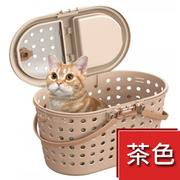 (MK-CT-326-寵物外出提籠茶色)MK-CT-326- pet cage lift out brown