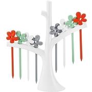 (KOZIOL)KOZIOL trees flower short fork 8 (white orange gray green)