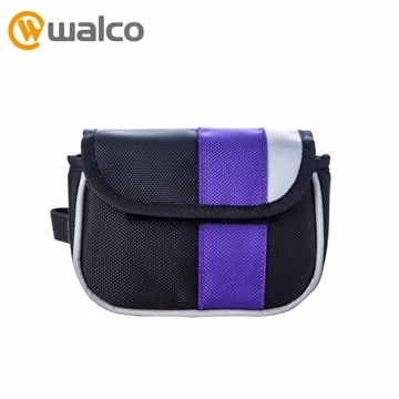 (Walco)Walco -Purple Frame Pannier seat tube small saddle bag - purple section