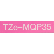 Brother TZe-MQP35 protection label tape (12mm pink white)