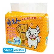 ผ้าอ้อมสำหรับสุนัขและแมว - 50 ชิ้น (60x45ซม.)