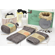 (KEYTOSS)S.Cafe green coffee yarn - weave bath sponge cube