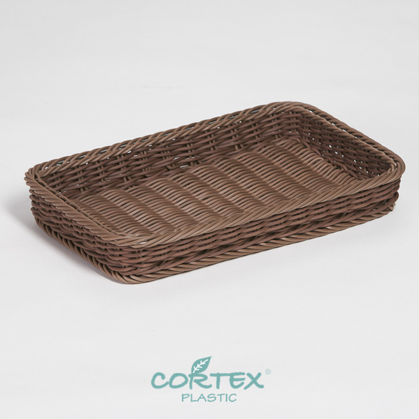 (CORTEX)CORTEX bread basket display (304 stainless steel strengthening) rectangular tray 35cm deep coffee