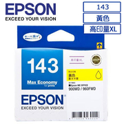 (EPSON)EPSON 143 (C13T143450) Original high-volume XL yellow ink cartridge