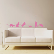 [TAITRA]  Smart Design สติ๊กเกอร์ติดผนังแบบสร้างสรรค์ ไม่ทิ้งรอย◆แมวน้อยที่มีความสุข สีพีชแดง