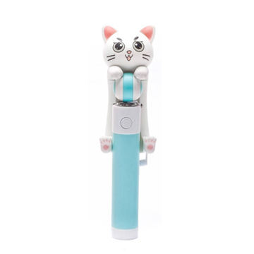 [TAITRA] Cat Aluminum Alloy Wired Selfie Stick (Green)