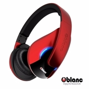 [TAITRA] [Oblanc] NC3-Shell Bluetooth Metallic Red High-Quality Large Single 50mm Noise-Free Long-Lasting Call-Enabled Bluetooth Wireless Headset
