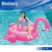 [TAITRA]  【SOLAR】Bestway 41108 ที่นั่งสูบลมลอยน้ำ รูปนกฟลามิงโก
