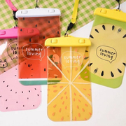 Summer fruits can touch phone waterproof bag (for 3.5 to 5.5 inch mobile phone)