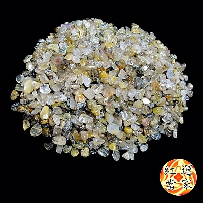 [TAITRA] [Fortune House] Natural Quartz Rutilated Gravel (Thick)_600g