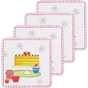 (KitchenCraft)KitchenCraft wooden coasters 4 into (dessert)