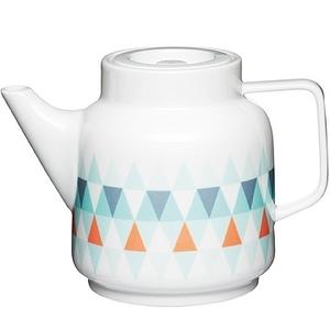 (KitchenCraft)KitchenCraft geometric pottery teapot (1400ml)