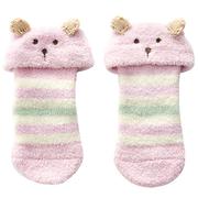 (奇哥)[Chico] super soft comfort into one pair of warm socks Bear - Pink