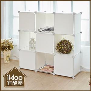 [TAITRA] [ikloo] ตู้เก็บของ 9 ตาราง ประตู 9 ใบ-สีขาวฝรงัเเ