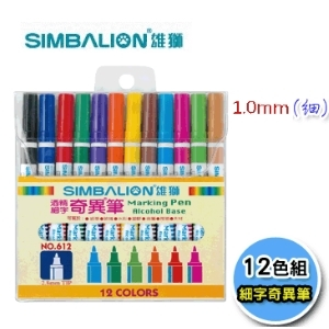 [TAITRA] SIMBALION 600 Singular Strange Color Pen 12 Color Set