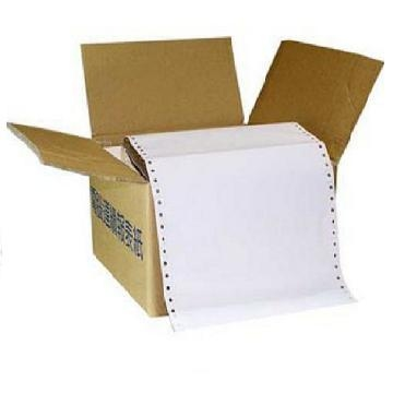 [TAITRA] Computer Continuous Form Paper (80 Rows) 9 1/2*11*1P Both-Side Perforated (White) 9.5in x 11in One Box