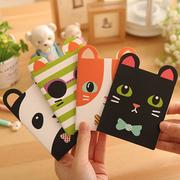 [TAITRA] Cute Creative Stationery ‧ Animal ‧ Cat Models ‧ Portable ‧ Notepad * 4 Pcs 【Bradenism]