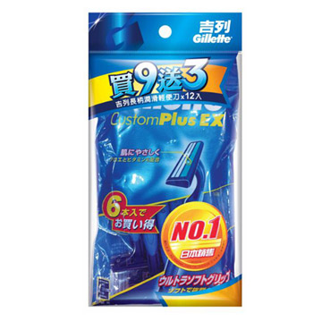 (吉列)Gillette double-lightweight knife (9 + 3 Pack) Japan Packaging
