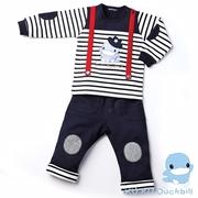 (Ku.Ku Duckbill) suspenders Ku.Ku Duckbill เย็นดาวคาวบอยชายชุดสูท (แถบสีฟ้า) 80/90 / 100CM (8575)