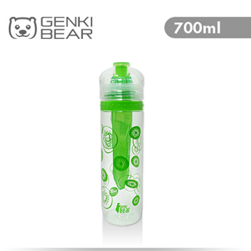 [TAITRA] GENKI BEAR Pure Fresh Tritan Vibrant Bottle 700ml Green