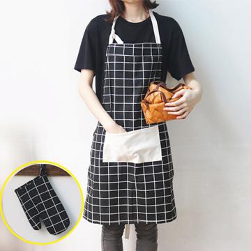 ZAKKA Japanese cotton apron gloves set