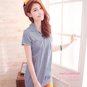 (Isabella)[Isabella] double buckle plaid shirt A080 (a total of three colors)