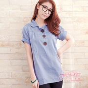 (Isabella)[Isabella] three buckle plaid shirt A078 (sweet red)