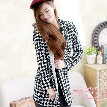 (Isabella)[Isabella] Houndstooth Cardigan A405 (Houndstooth)