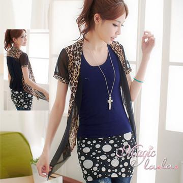 (Isabella)[Isabella] A155 mesh leopard jacket