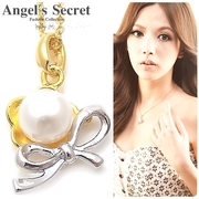 (angel's secret)[Angel's Secret] Anne of Green Gables ˙ natural pearl flowers butterfly necklace - Gold Chain