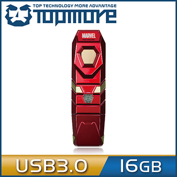 TOPMORE Marvel series fingerprint disc (Iron Man) USB3.0 16GB