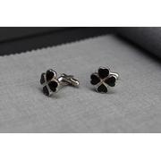 [TAITRA] Flower-Molding Enamel Cufflinks