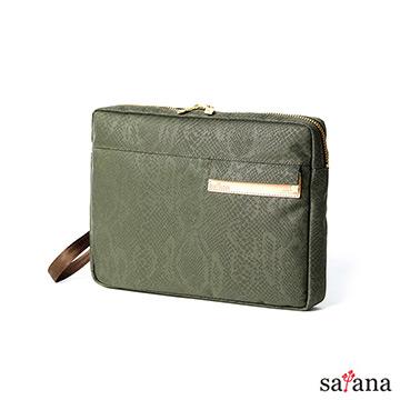 [TAITRA]  Satana - แฟชั่นในเมืองป่ากระเป๋ามือ - สีเขียวเข้ม