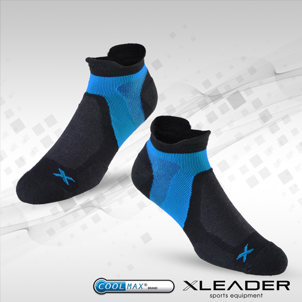 [TAITRA] LEADER ST-02 X-Shaped Compressive Band Extra-Thick Durable Shock Absorption Men\'s Socks Black & Blue