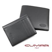 (CUMAR)CUMAR Italian leather - embossed short clip - removable attachment clip