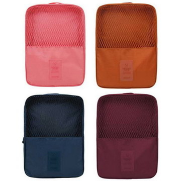 Multifunctional shoes travel storage bag (burgundy / deep pink / orange / dark blue)