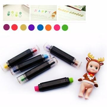 (Kiret)kiret Korea 2-in-1 Double-color inkpad pen -DIY special stamp album diary