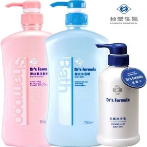 (台塑生醫)Drs Formula Baby Formosa Biomedical double wash set (shampoo bath essence 700g + 700g + Washing milk 400g)