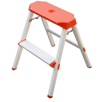 [TAITRA] OSAKA Comfort 2-Step Ladder (Stool) - Bright Orange