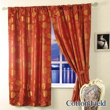 [TAITRA] Cotton Field (Cai Yan) Jacquard Window Curtain, Dual Use for Rod-hanging and Hanging (200x170cm)